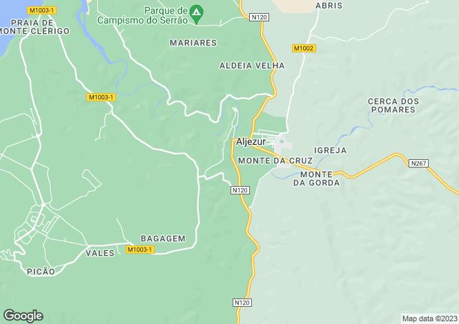 Map for Aljezur, Algarve, 8670-111, Portugal