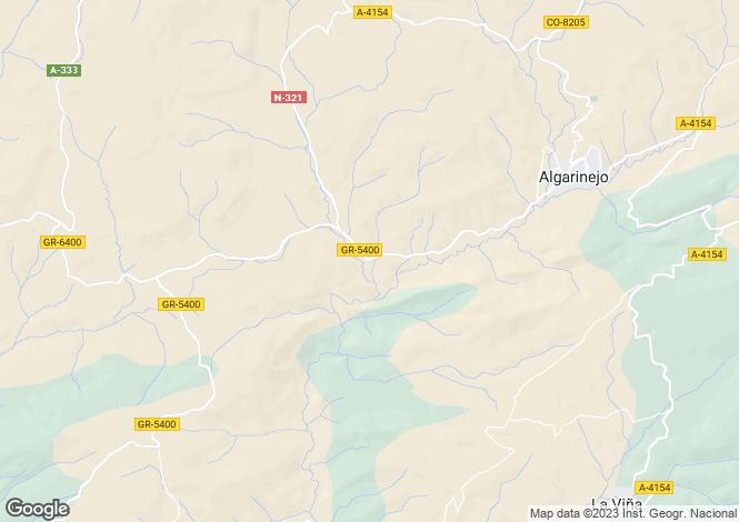 Map for Andalusia, Granada, Algarinejo