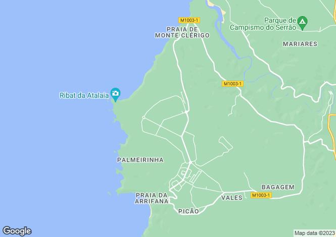 Map for Vale da Telha, Algarve