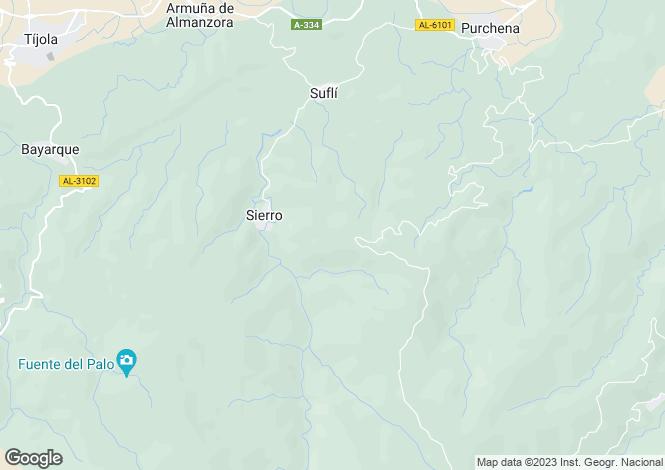 Map for Sierro, Almeria