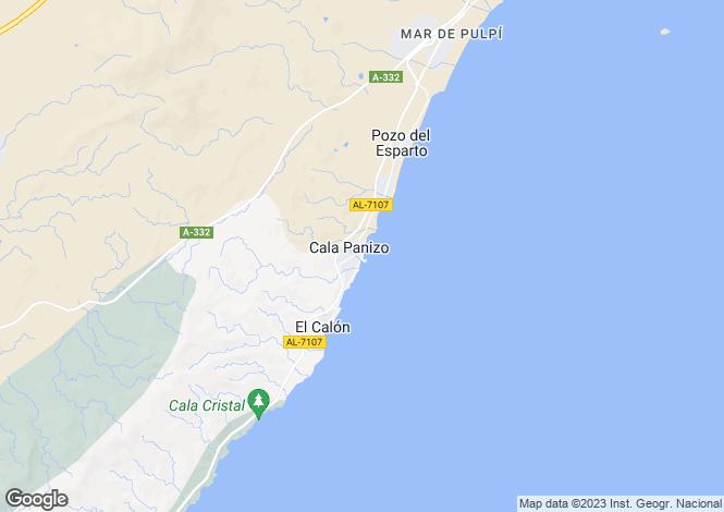 Map for Spain - Andalusia, Almería, Cala Pañizo