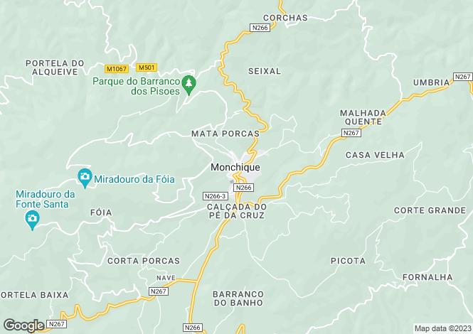 Map for Monchique, Monchique, Faro