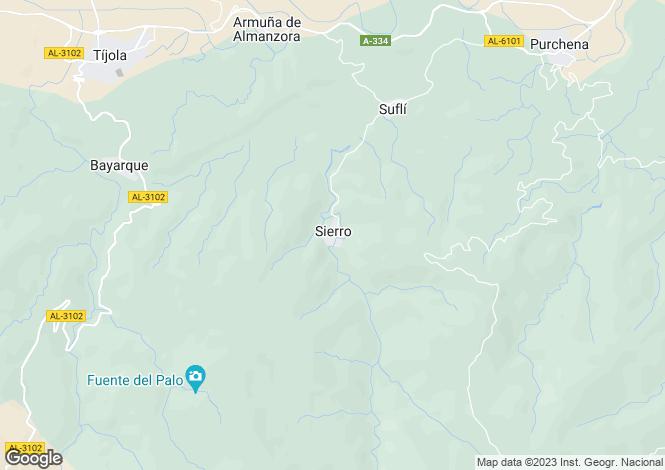 Map for Andalucia, Almería, Sierro
