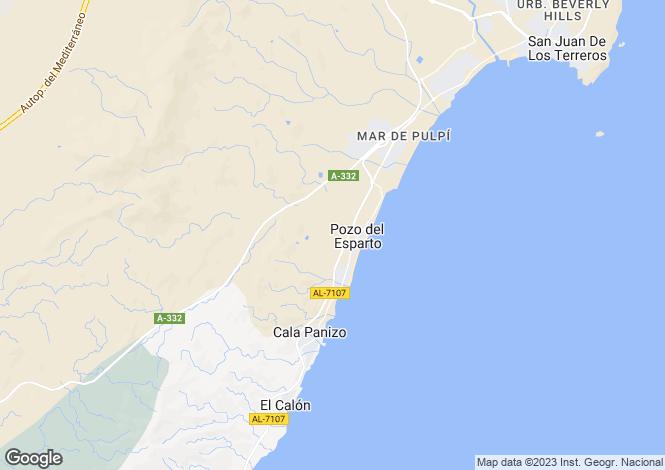 Map for Spain - Andalusia, Almería, Pozo del Esparto
