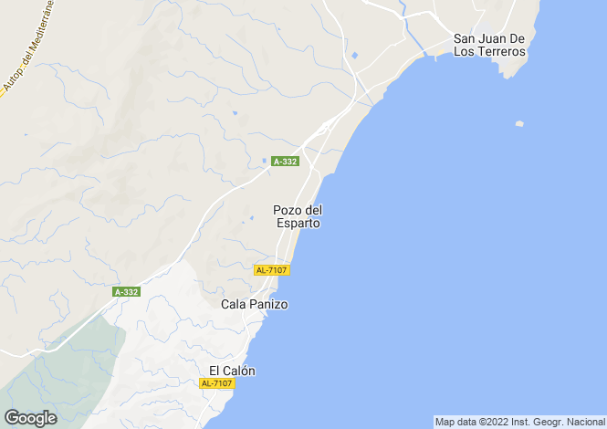 Map for Pozo del Esparto, Almería, Andalusia