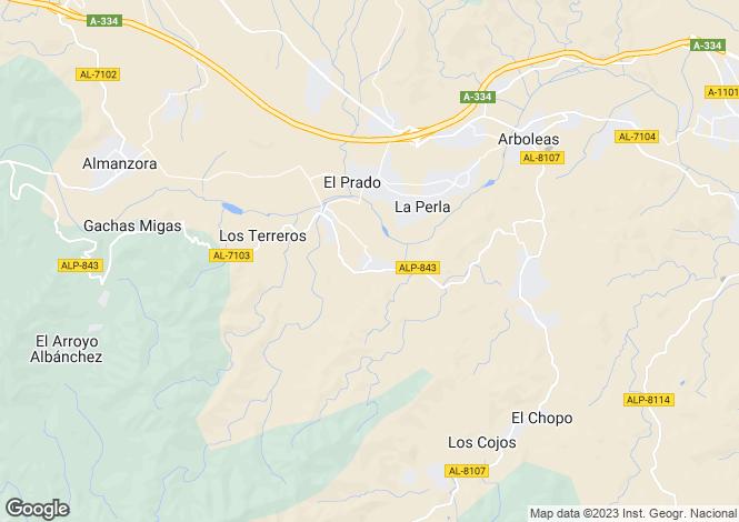 Map for Andalucia, Almería, Arboleas