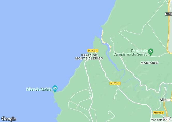 Map for Villa With Annex, Vale Da Telha, Algarve