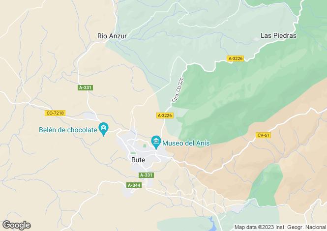 Map for Andalucia, Malaga, Antequera
