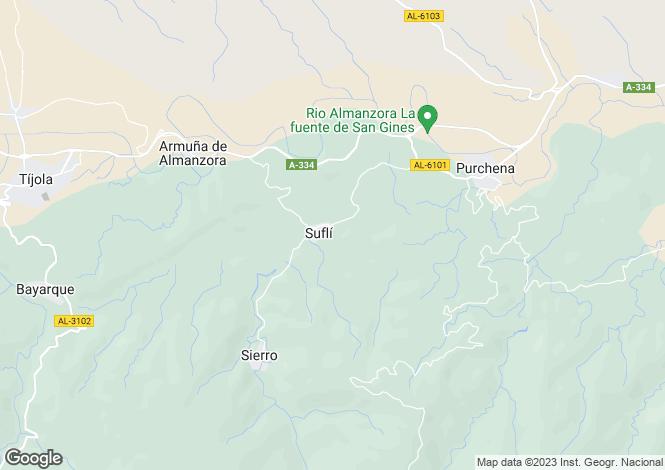 Map for Purchena, Almería, Andalusia
