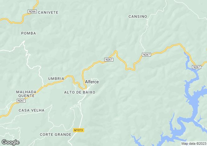 Map for Algarve, Alferce