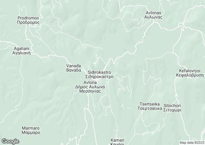 Map for Peloponnese, Messinia, Sidirokastro