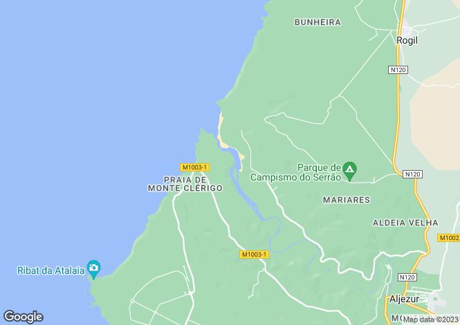 Map for Algarve, Monte CLERIGO