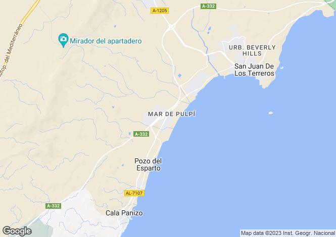 Map for Andalusia, Almería, San Juan De Los Terreros