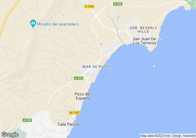Map for Spain - Andalusia, Almería, San Juan de los Terreros
