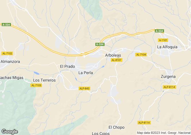 Map for Andalusia, Almería, Arboleas