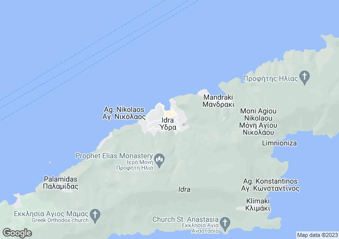 Map for Attica, Ydra