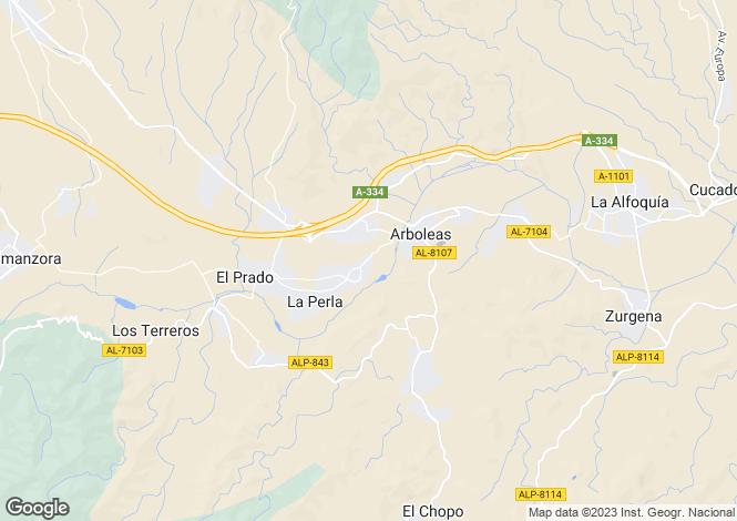 Map for Arboleas, Almería, Andalusia