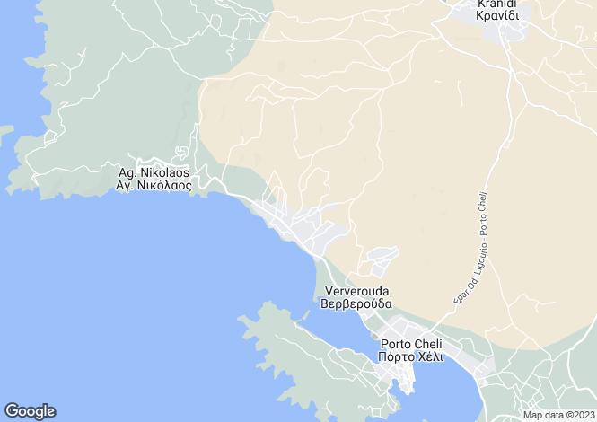 Map for Portocheli, Argolis, Peloponnese