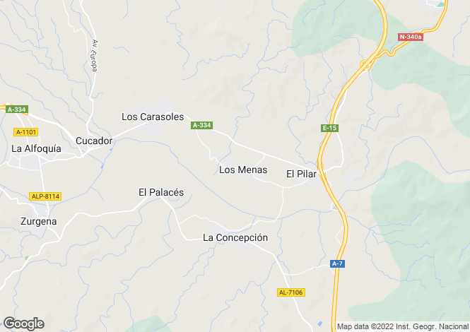 Map for Andalusia, Almería, Huércal-Overa