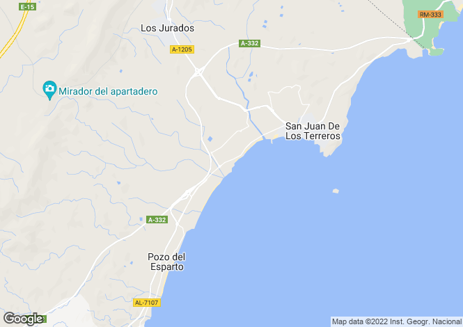 Map for San Juan De Los Terreros, Almería, Andalusia