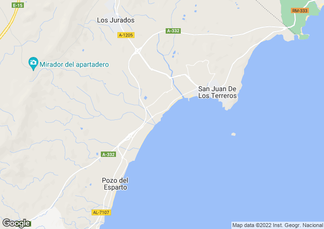 Map for Spain - Andalucia, Almería, San Juan de los Terreros