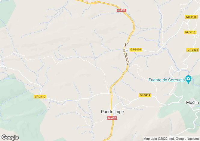 Map for Moclin, Granada, Spain