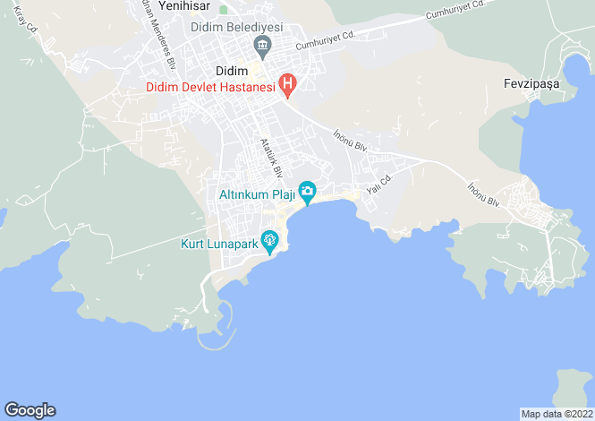 Map for Altinkum, Didim, Aydin