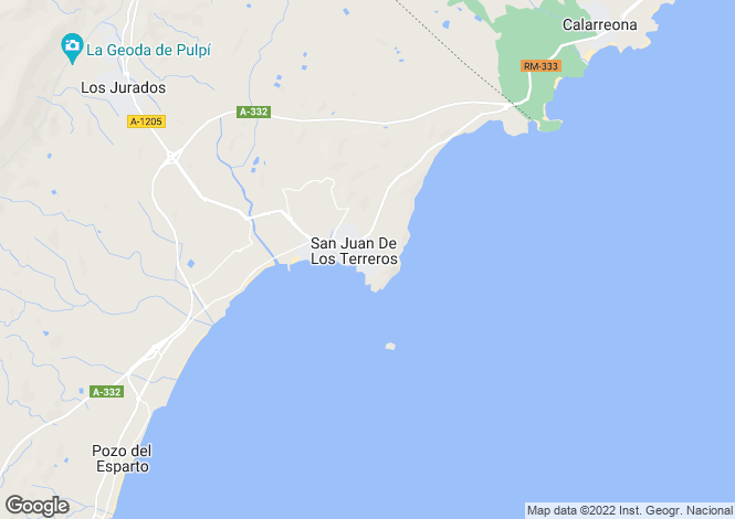 Map for Spain - Andalusia, Almería, San Juan de los Terreros