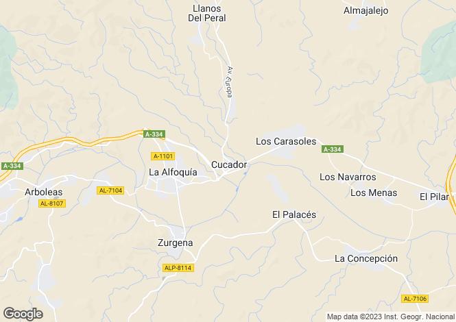 Map for Andalucia, Almería, La Alfoquia