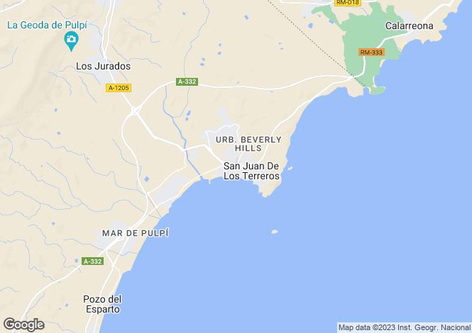 Map for Andalucia, Almería, San Juan de los Terreros