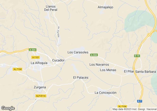 Map for Andalusia, Almería, Zúrgena