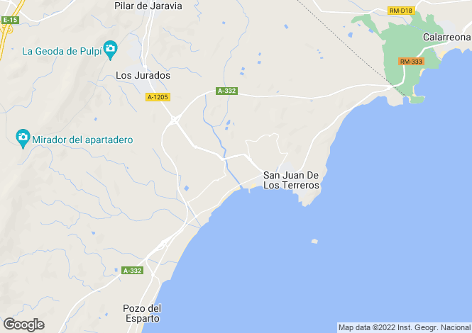 Map for San Juan de los Terreros, Spain