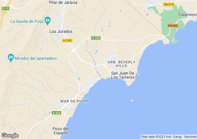 Map for San Juan De Los Terreros, Almería, Andalusia