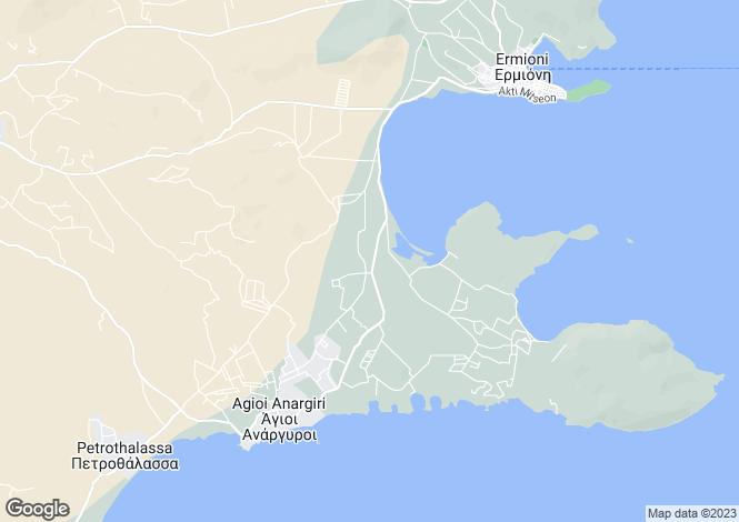 Map for Ermioni, Argolis, Peloponnese