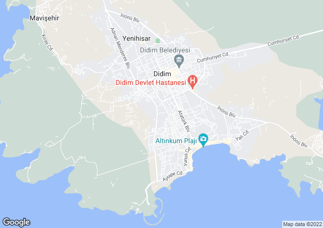Map for Altinkum, Didim, Aydin
