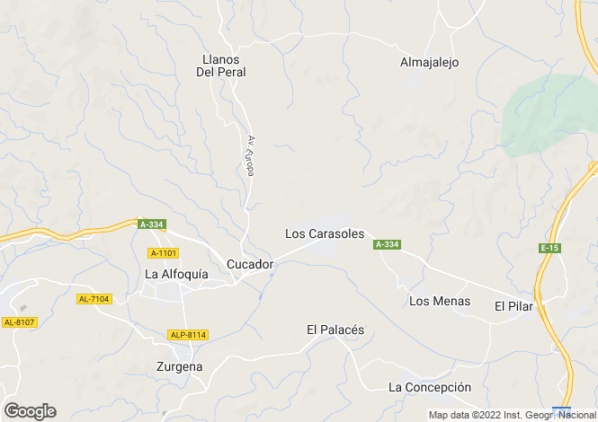Map for La Alfoquia, Almería, Andalusia