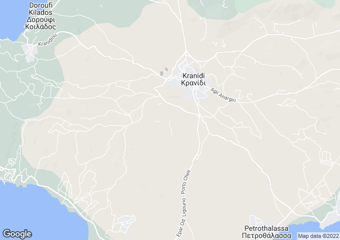 Map for Peloponnese, Argolis, Kranidi