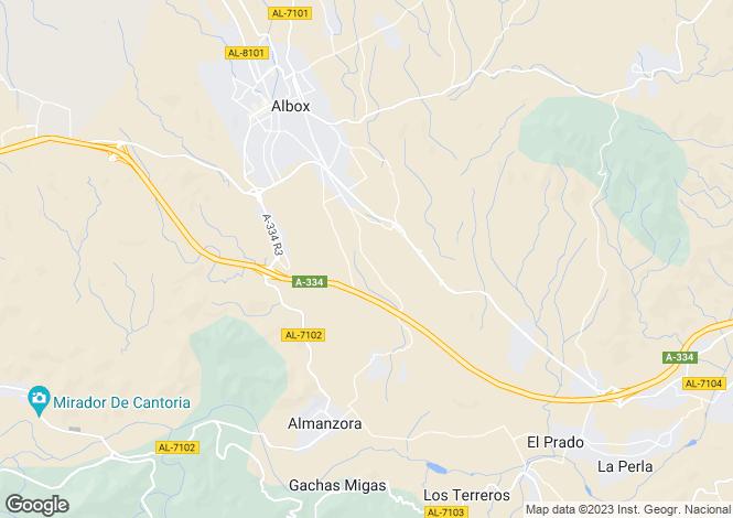Map for Andalucia, Almería, Albox