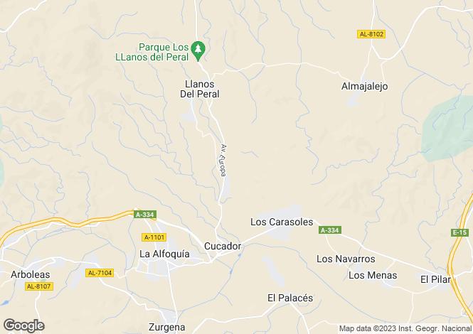 Map for Zúrgena, Almería, Andalusia
