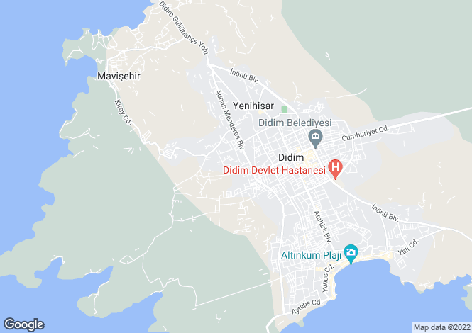 Map for Altinkum, Aydin,  Turkey