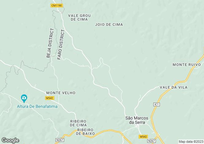 Map for São Marcos da Serra, Algarve