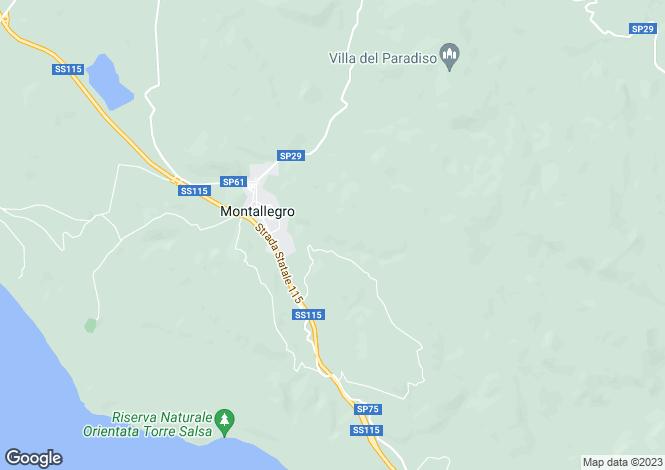 Map for Sicily, Agrigento, Montallegro