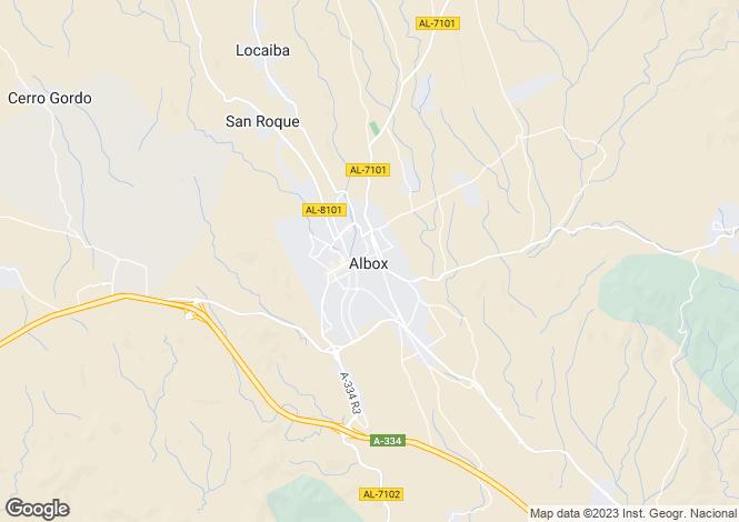 Map for Andalucia, Almería, Zúrgena