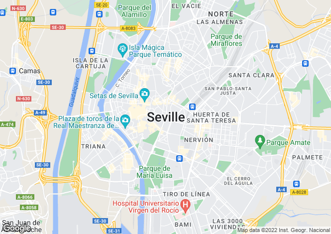 Map for Seville