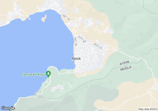 Map for Akbuk, Aydin,  Turkey