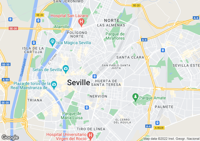 Map for Sevilla, Sevilla, Andalusia