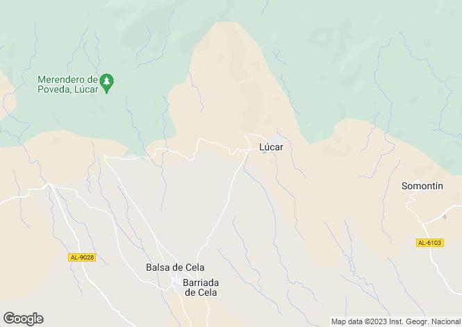 Map for Lúcar, Almería, Andalusia