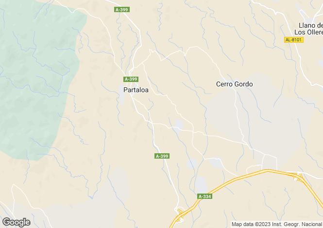 Map for Andalucia, Almería, Partaloa
