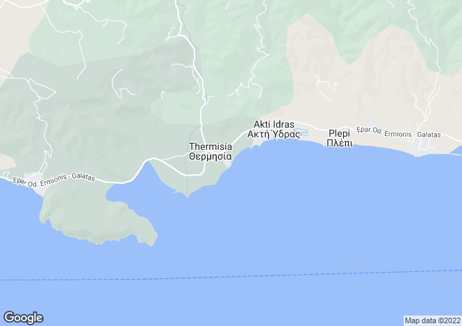 Map for Peloponnese