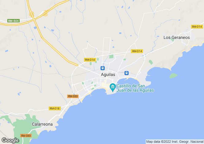 Map for Spain - Murcia, Águilas